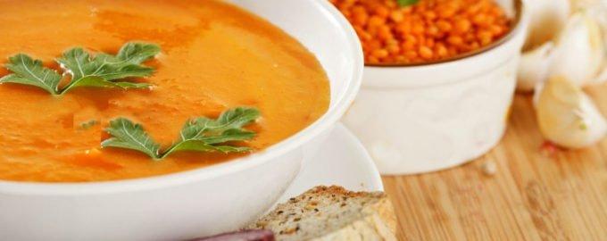 чечевичный суп пюре