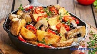 Популярные рецепты жареной картошки с грибами. Вкусный рецепт