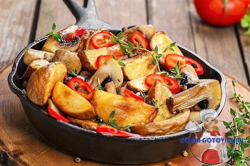Рецепты жаренной картошки с грибами