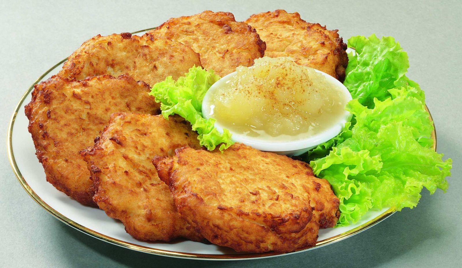 картофельные оладьи на дрожжах