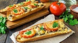 Рецепт пицца на багете с сыром  моцарелла