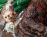 Буженина из свинины с корневым и витаминным салатом