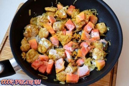 Курица с папайей - экзотическое блюдо  с доступными ингредиентами