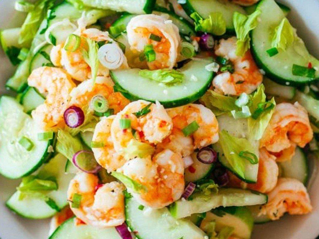 Салат с креветками — рецепты вкусных блюд из экзотических морепродуктов