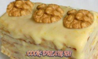 пирожное со сгущенкой