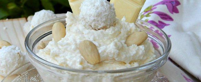 Крем Рафаэлло - легкий десерт вкусного приготовления