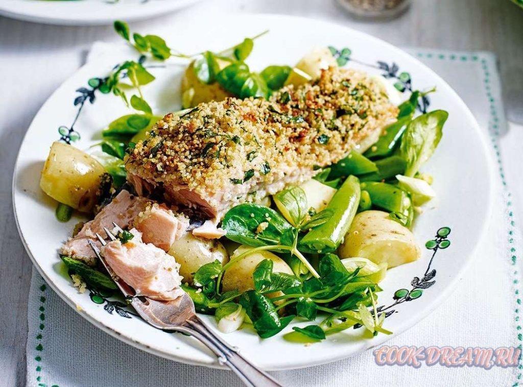 Рыба, приготовленная с крупой кус-кус